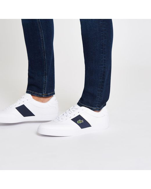 5cfbc6ade ... Lacoste - White Leather Courtmaster Trainers for Men - Lyst