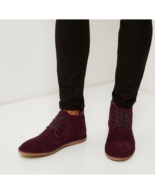 river island suede desert boots in for lyst