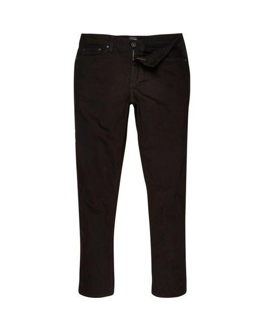 Dylan Black Jeans Slim Fit River Island