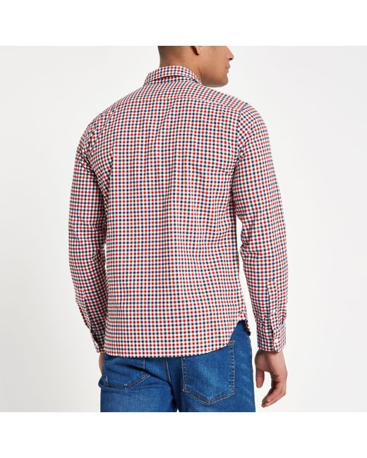 River Island Mens Levis Red check print long sleeve shirt Levi's Really Cheap Price Discount 2018 Unisex Clearance Wiki For Sale 7zKzuite