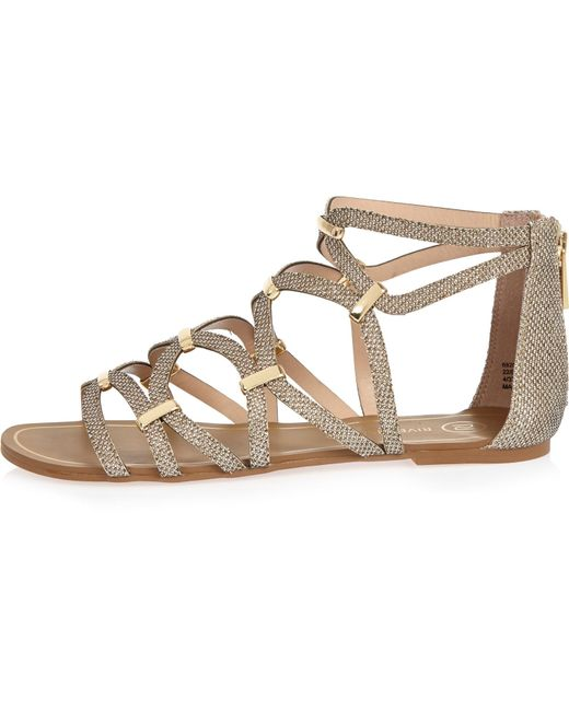 River Island Gold Gladiator Sandals In Lyst