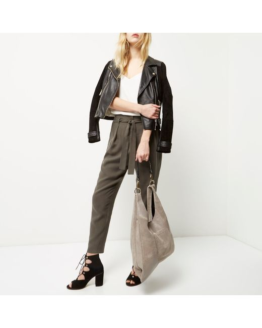 River Island Leather Patchwork Bag