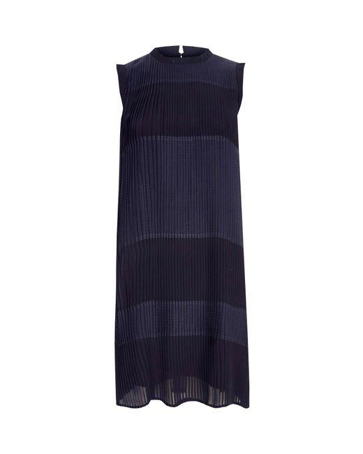 River Island | Blue Navy Sleeveless Pleated Swing Dress | Lyst