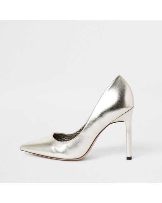1fe0dad3e17 River Island Pointed Toe Pumps in Metallic - Save 57.5% - Lyst