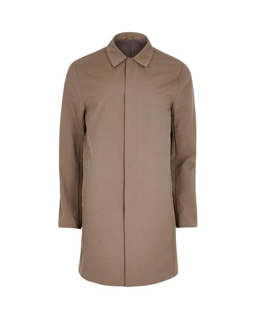 River Island | Brown Smart Mac Coat for Men | Lyst