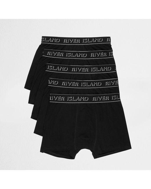 River Island - Black Ri Branded Trunks Multipack for Men - Lyst