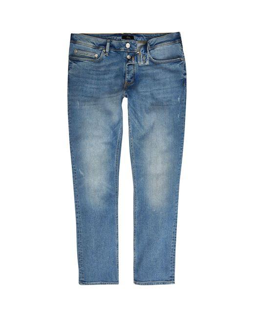 River Island - Light Blue Dylan Slim Fit Jeans for Men - Lyst