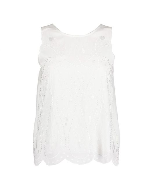 Great Plains White Bali Embroidered Top