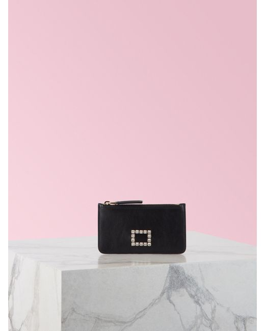 Tarjetero Très Vivier Strass ROJONEGRO - Wallets Roger Vivier de color Pink