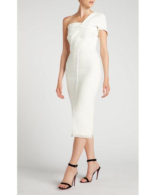 272217220c Roland Mouret - White Morita Dress - Lyst ...