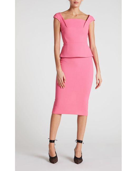Roland Mouret - Pink Arreton Skirt - Lyst
