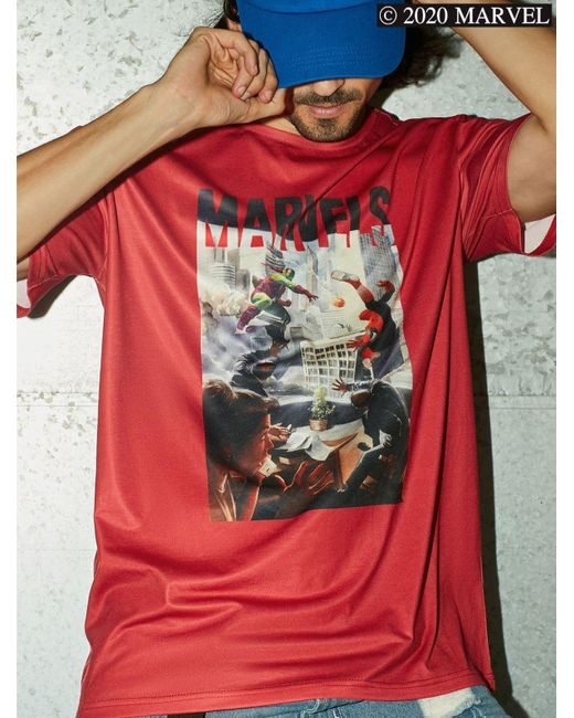 Rosegal Red Marvel Spider-man Graphic Short Sleeve T-shirt for men