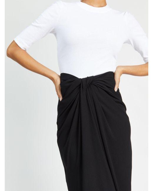 Rosetta Getty Black Twist-front Skirt