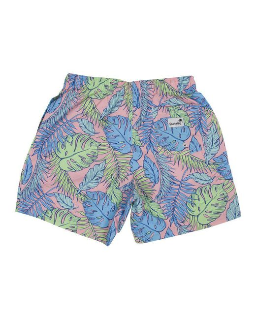 Boardies Blue Palmtopia Print Mid Swim Shorts for men
