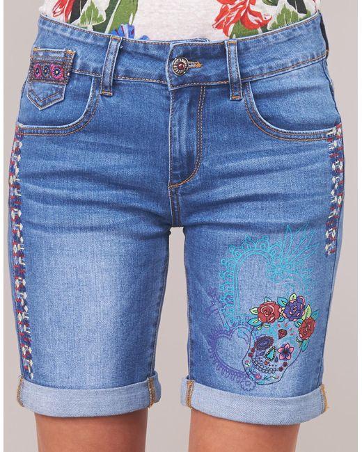 Blue Shorts Catrina In Desigual Lyst OzgwWq 138bb2b9bf9