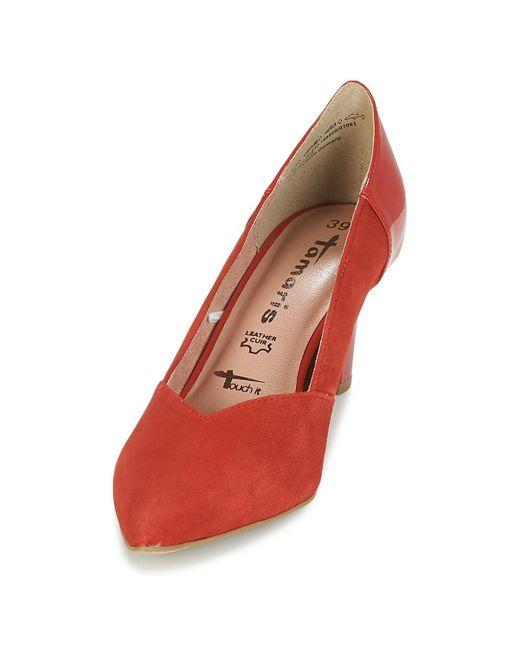 Tamaris Tacapi Women's Court Shoes In Red