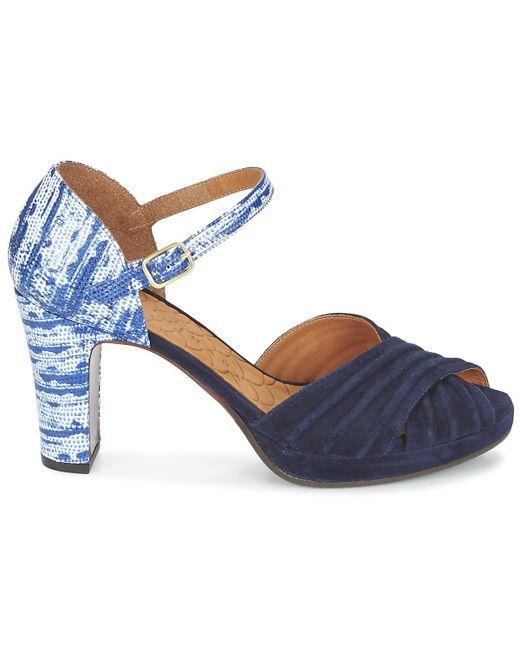 ... Chie Mihara | Blue Nana Sandals | Lyst ...