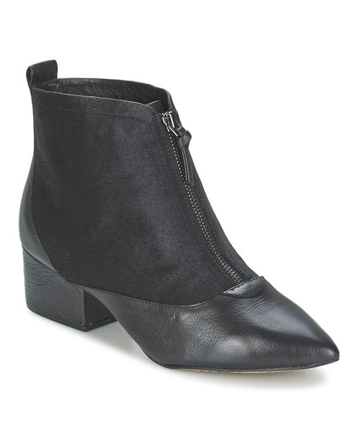French Connection Black Robrey Low Ankle Boots