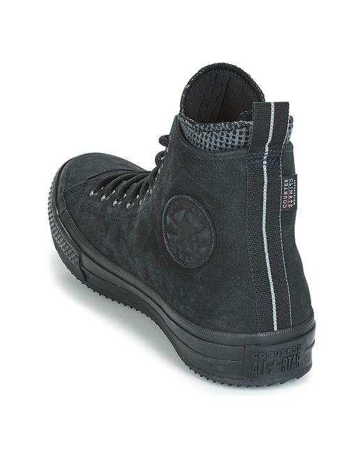 ... Converse - Black Chuck Taylor All Star Wp Boot Leather Hi Shoes  (high-top ... 5c46d4a6f
