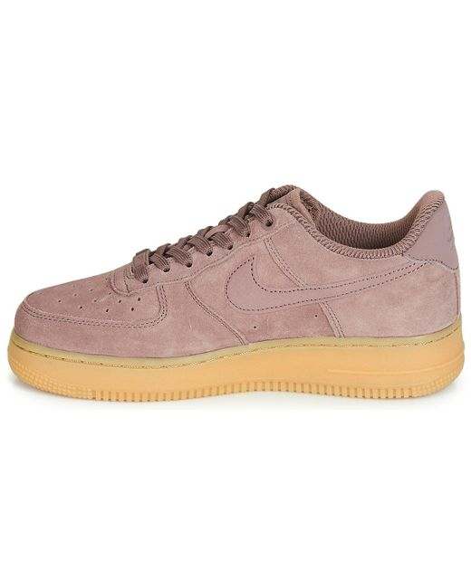 ... Lyst Nike - Pink Air Force 1 07 Se W Shoes (trainers) ... b9231b590