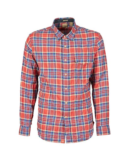 Dockers | Red The Twill Wrinkle Shirt Long Sleeved Shirt for Men | Lyst