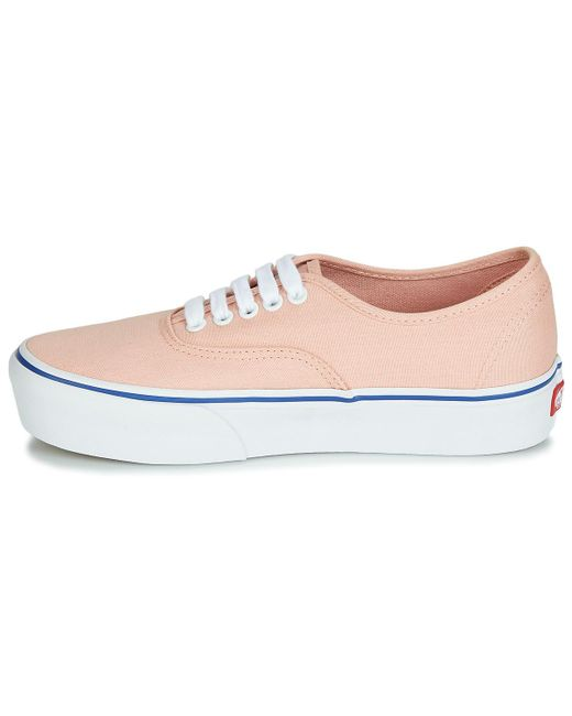 950d5cf866 ... Lyst Vans - Authentic Platform 2.0 Women s Shoes (trainers) In Pink ...