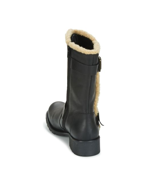 7239aeec0b3 Clarks Orinoco Art Women's Mid Boots In Black - Lyst