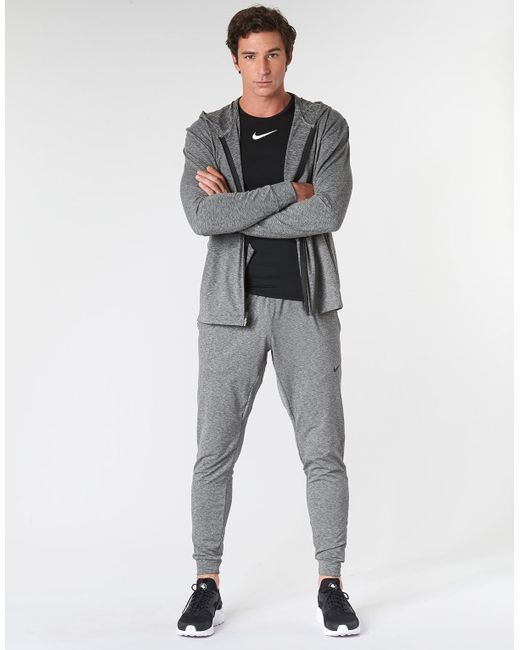 Nike Dri Fit Yoga Trousers In Grey Black For Men Save 7 Lyst