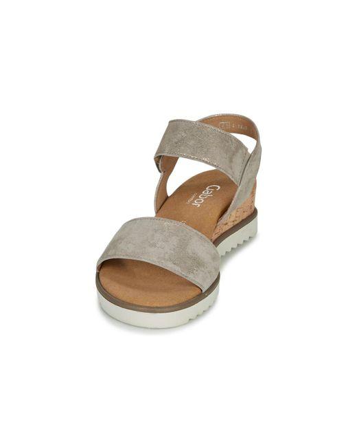 Gabor Women's Metallic Karibitou Sandals