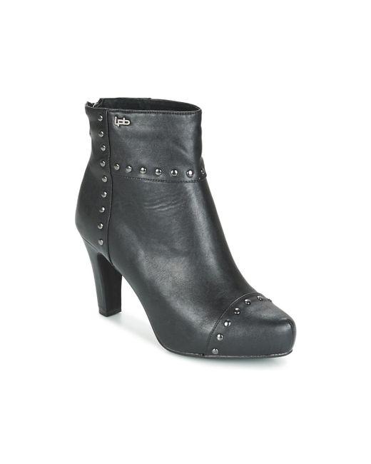 Les P'tites Bombes - Black Belinda Low Ankle Boots - Lyst