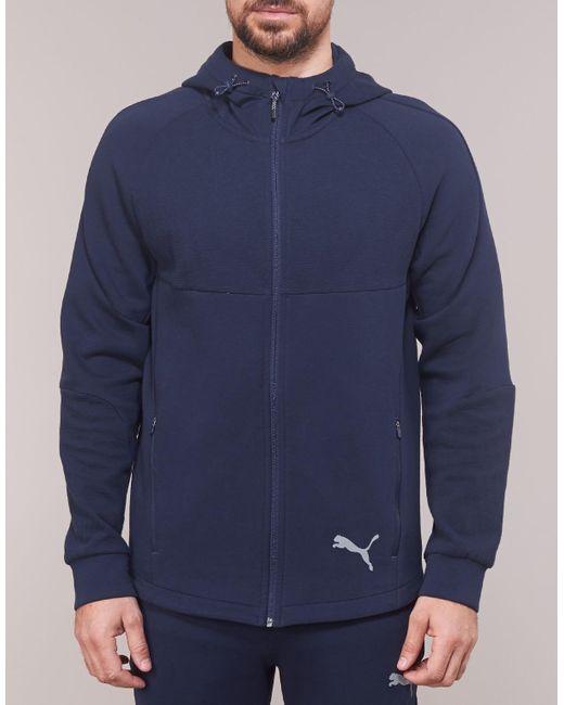 PUMA Evostripe Fz Hoody Men's Tracksuit Jacket In Blue for