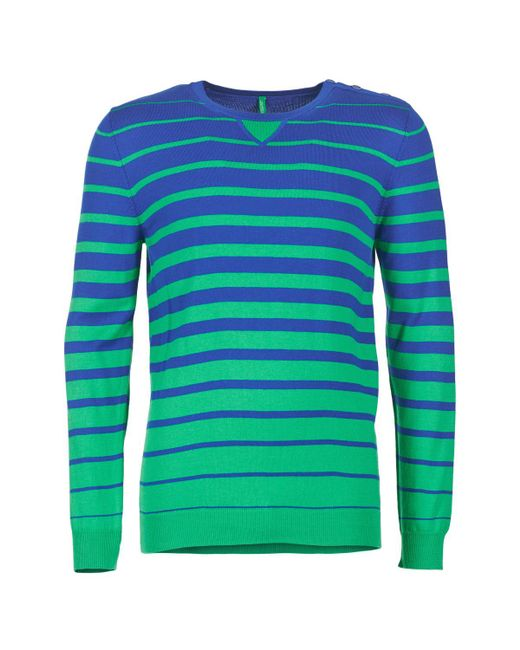 Benetton - Green Fodime Sweater for Men - Lyst