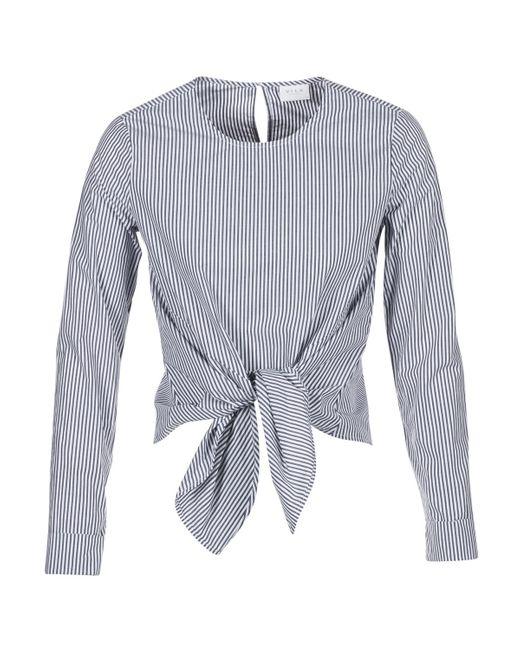 Vila Gray Vijusty Women's Blouse In Grey
