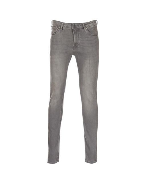 Jack & Jones Gray Liam Skinny Jeans for men