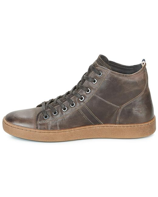 a6f08eff70 Jack & Jones Duncan Leather Ltd Shoes (high-top Trainers) in Gray ...