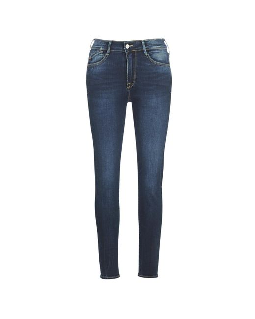 Le Temps Des Cerises Blue Power High Waist Skinny Jeans