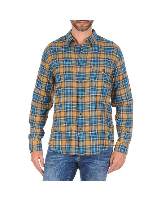 Dockers | Blue Wrinkle Twill Long Sleeved Shirt for Men | Lyst