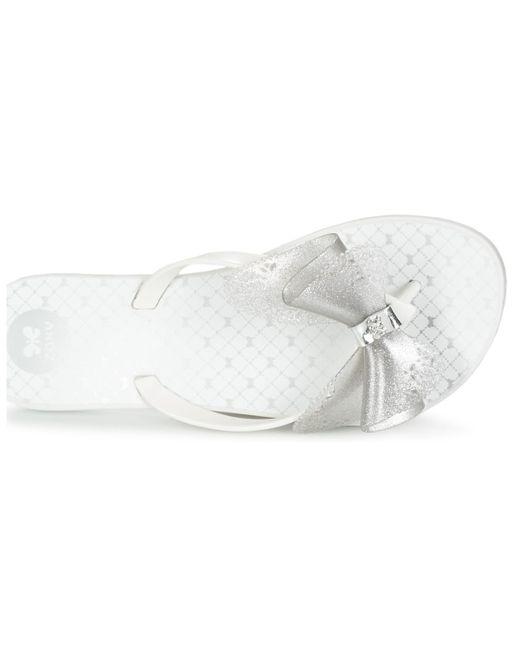 d9c432c5ba9c80 ... Zaxy - White Fresh Butterfly Flip Flops   Sandals (shoes) - Lyst ...