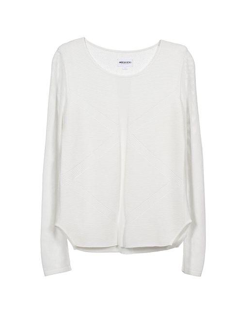 American Retro | White Gemma Sweater | Lyst