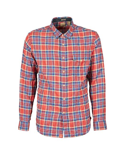 Dockers   Red The Twill Wrinkle Shirt Long Sleeved Shirt for Men   Lyst