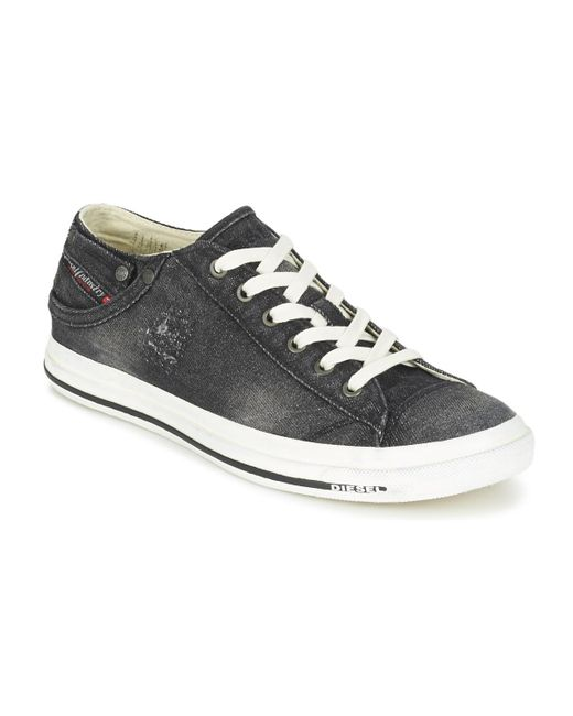 DIESEL - Black Exposure Low I Shoes (trainers) for Men - Lyst