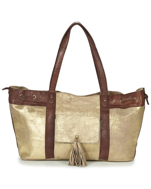 Pieces | Metallic Stella Leather Bag Shoulder Bag | Lyst