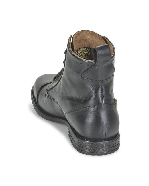 2b8b41a6fcc Levi's Levis Emerson Lace Up Men's Mid Boots In Black for Men - Lyst