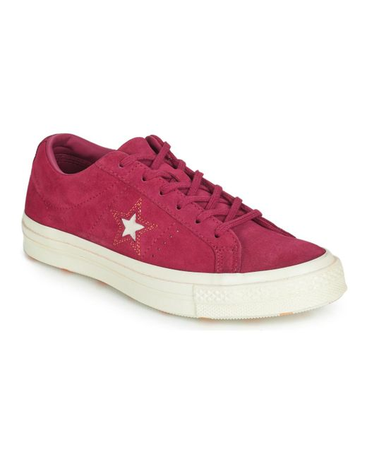 Converse - One Star Love In The Details Suede Ox Women s Shoes (trainers)  In ... 7e9807576