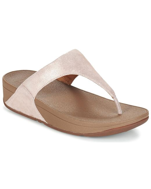 Fitflop | Pink Shimmy Suede Toe Post Flip Flops / Sandals (shoes) | Lyst