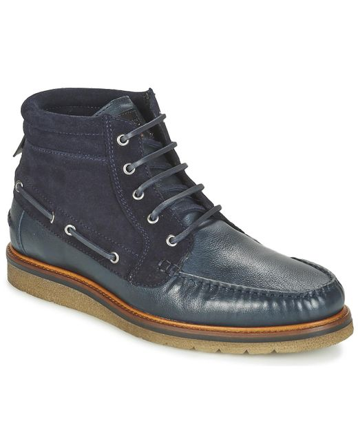 BOSS Orange - Blue Tuned Halb Mid Boots for Men - Lyst