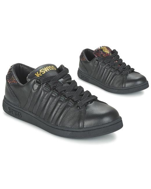 K-swiss Black Lozan Tongue Twister Shoes (trainers)