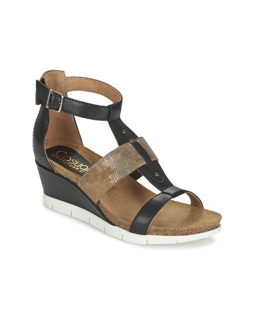 Casual Attitude - Black Bengaliono Sandals - Lyst