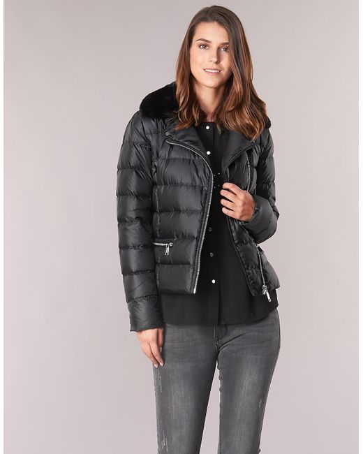 1e20249ee MICHAEL Michael Kors Short Biker Puffer Women's Jacket In Black - Lyst