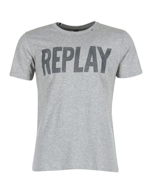 Replay - Gray Walou T Shirt for Men - Lyst